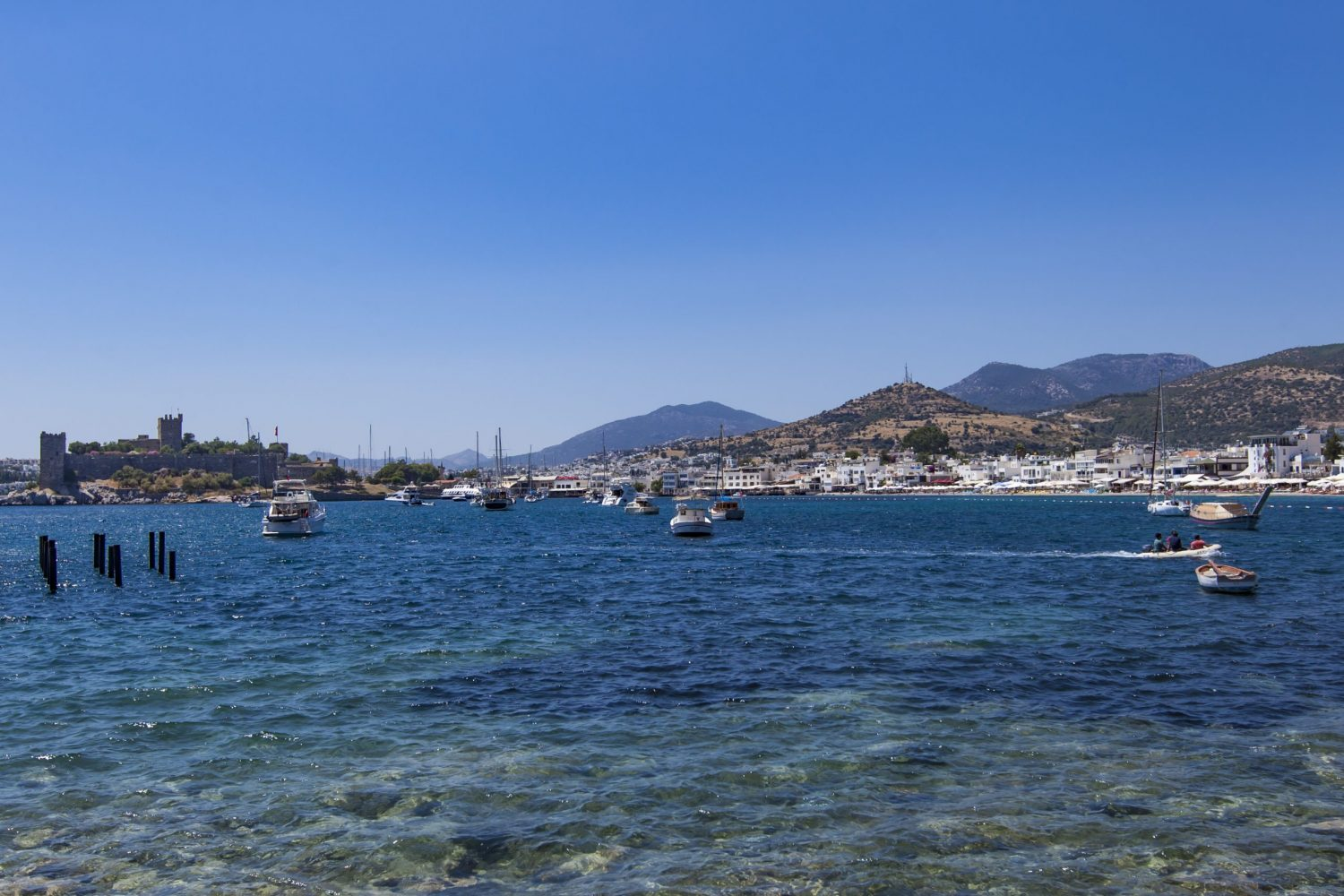 Detail from the harbor in Bodrum, Turkey