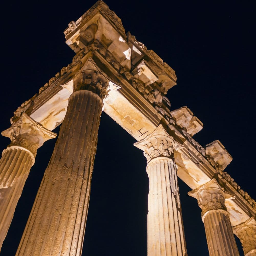 The ruins of ancient temple of Apollo in Side (Turkey)